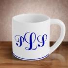 Monogrammed 8 oz Stoneware Mini Mug