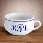 Monogrammed 18 oz Ceramic Soup Mug