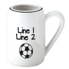 Personalized Soccer 22 oz. Ceramic Beer Stein