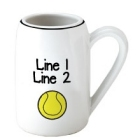 Personalized Tennis Ball 22 oz. Ceramic Beer Steins
