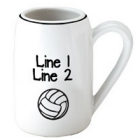 Personalized Volleyball 22 oz. Beer Stein