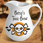 Personalized 1.5 Quart Halloween Skull Pitcher