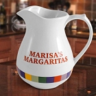 Rainbow Design Personalized Stoneware 2.5 Quart Pitcher