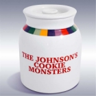 Rainbow Design Personalized Stoneware Jumbo Cookie Jar