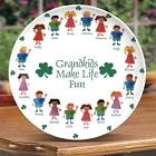Personalized Porcelain Irish Grandkids Platter