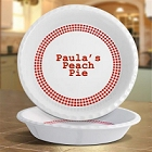 "Personalized Red Gingham 10"" Pie Plates"
