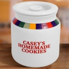 Rainbow Design Personalized Stoneware Cookie Jar
