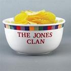 Rainbow Sonoma Personalized 4 Quart Popcorn Bowls