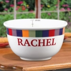 Rainbow Design Personalized Stoneware 1 Quart Bowl
