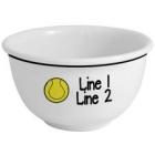 Personalized Tennis Icon 1 Quart Ceramic Snack Bowls