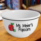 Personalized Schoolteacher Icons 1 Quart Snack Bowls