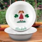 Personalized Irish Kids Ceramic Cereal Bowl