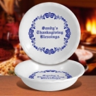 Baroque Design Personalized Deep Dish Pie Plates
