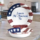 Personalized Patriotic Deep Dish Apple Pie Plates