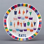 "Personalized 8"" Birthday Plate"
