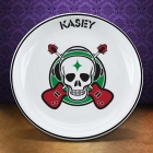 "Personalized 8"" Rock 'n Roll Guitar Skull Plates"