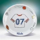 "Personalized Sports Jersey 8"" Kids Plates"