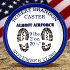 Personalized US Air Force Porcelain Keepsake Birth Plates