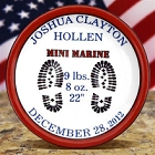 Personalized Marines Porcelain Birth Plates