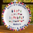 "Personalized 11"" Birthday Plate"