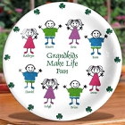 Irish Grandkids Make Life Fun Personalized Plates