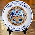 Military Greeting Personalized Keepsake Plates