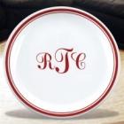 """Monogrammed 11"""" Ceramic Plates"""