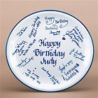 Celebration Signature Plate with Personalized Messages