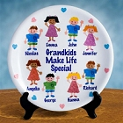 Personalized Grandparents Keepsake Plate with Sponge Kids