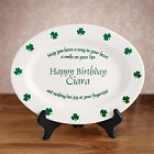 Personalized Irish Birthday Plate