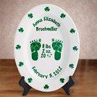 Personalized Irish Oval Birth Plates