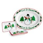 Personalized Snowman Holiday Celebration Plate