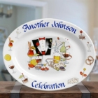 Personalized Oval Celebration Platter