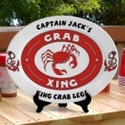 Personalized Oval Crab Platter