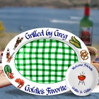 Personalized Bar-B-Que Gingham Platters