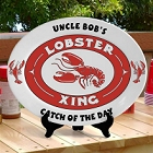 Personalized Oval Lobster Platter