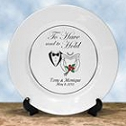 Genuine Platinum Personalized Wedding Anniversary Plates