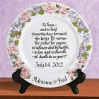 Personalized Platinum Wedding Keepsake Plates