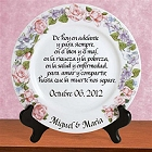 Personalized Platinum Spanish Wedding Plates