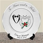 Genuine Platinum Personalized Wedding Plates