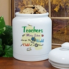 Teacher Personalized Ceramic Cookie Jars