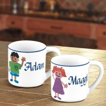 Personalized Stoneware Kids Mini Mugs