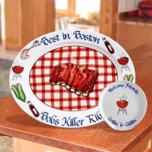 Personalized Barbecued Ribs Serving Platters