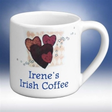 Flavia's Personalized Ceramic Heart Mugs