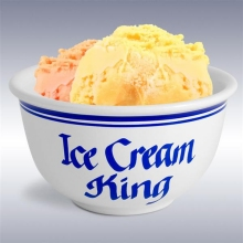 Ice Cream King 1 Quart Ceramic Ice Cream Bowls