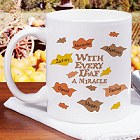 Every Leaf A Miracle Personalized Thanksgiving Coffee Mugs