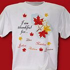 Thankful For Personalized Autumn T-shirts