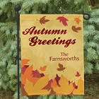 Autumn Greetings Personalized Garden Flags