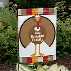 Welcome Turkey Personalized Autumn Garden Flags