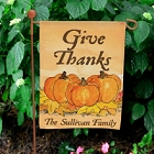 Give Thanks Personalized Autumn Garden Flags